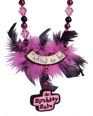 Tickled to be the birthday day babe party beads